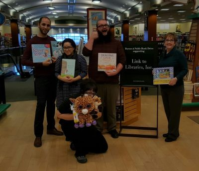 Booksellers in our Holyoke, MA, store show their enthusiasm about the partnership with Link to Libraries.